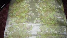 Drapery or Upholstery Tapestry Brocade Fabric 12 Yards Yellow & Tan Satin Like