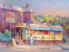 MISS WORCESTER Diner Cityscape Giclee Paper or Canvas
