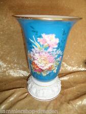 24242 Vase Philipp Rosenthal Blau handmalerei 20 cm selten blue Maria alt Blumen