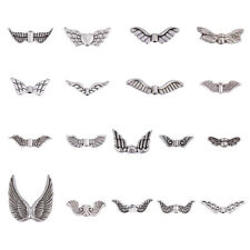 Alloy/Acrylic Wing Shape Beads Pendants Charms With Hole Mixed Size DIY Making