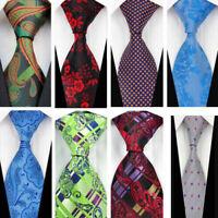 Green Blue Purple Paisley Wedding Stripe Necktie 100% Silk Business Men's Tie
