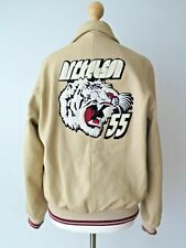 NICKELSON Men's Genuine Nappa Leather Bomber Tiger Jacket Size S Great Condition