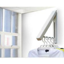 Coat Fold Away Hanger Wall Mounted Clothes Hanging Rail Dryer Rack Hanger LC