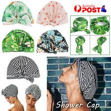 Women Shower Cap Reusable Long Hair Large Turban Bathroom Waterproof Hair Cap