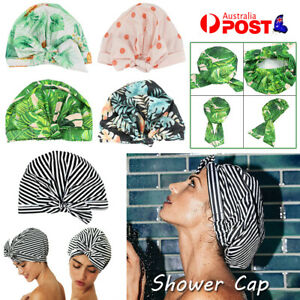 Women Shower Cap Reusable Long Hair Large Turban Bathroom Waterproof Hair Cap