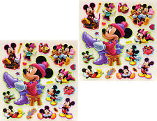 3D Scrapbooking Disney Characters Stickers Mickey Mouse 2 Sheets - 38 Stickers