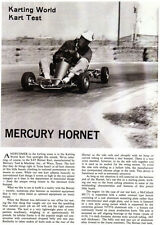 New! Vintage 1963 Mercury Hornet S-85 Go-Kart Test Report 4 Pages