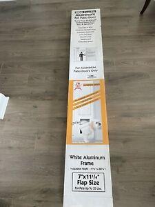 "New Ideal Fast Fit Aluminum Pet Patio White Door - 77-5/8"" to 80-3/8"""