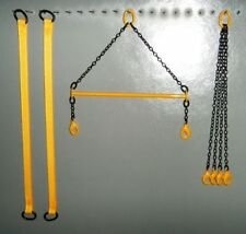 "4"" Brass Crane Spreader Bar Set in Old Cat Yellow. 1:50 1:48th Scale. USA Made"