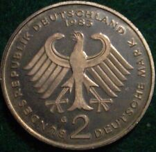 ONLY 75.000 MINTED PROOF 1983 *G* 2 MARK WEST GERMANY*****