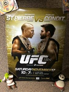 Official UFC 154 Fight Poster Georges St Pierre Vs Carlos Condit Welterweight