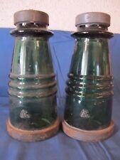 2 isolateurs EDF en verre vintage - Idéal pour faire des lampes