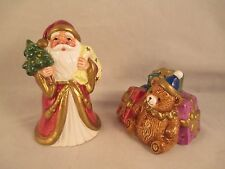 Fitz and Floyd 1993 Santa and Toys Salt and Pepper Shakers