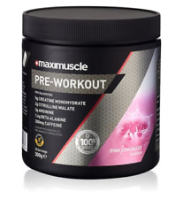 Maximuscle Pre Workout 300g Pink Lemonade Energy Boost Creatine BBE 02/21 (be2)