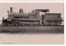East Indian Railway Train Six-Coupled Bogie Express Enginemen's Shelter Postcard