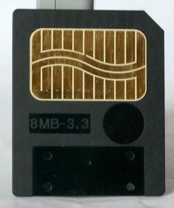 Fujifilm 8MB smart media memory card, made in Japan.