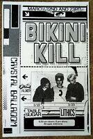 BIKINI KILL 2020 Gig POSTER Portland Oregon Concert