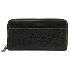 NWT COACH Men's Accordion Zip Large Wallet Coin Card Black Leather F12130 BLK