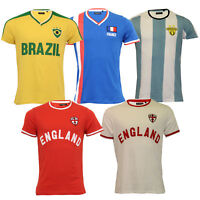 edf1985ac37 Mens World Cup T Shirt Brave Soul England Brazil France Argentina Football  Print