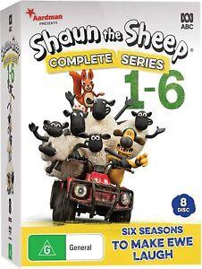 BRAND NEW Shaun The Sheep : Complete Series 1-6 (DVD, 8-Disc Set) R4