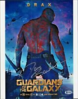 Dave Bautista Signed Guardians of the Galaxy 11x14 Photo w/Beckett COA T89982