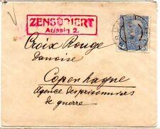 Austria Ww1 1915 censored cover from Brun to Copenhagen