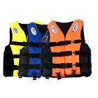 S-3XL Adult Life Jacket Lifesaving Swimming Boating Sailing Vest + Whistle