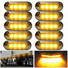 10 Pcs Amber SMD 4 LED Truck Side Marker Light Clearance Lamp Trailer 12/24v
