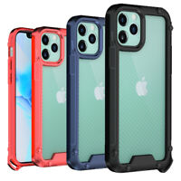 For iPhone 12 Pro Max/12 Pro Hybrid Heavy Duty Shockproof Armor Clear Case Cover