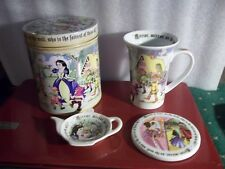 Snow White 8 Oz, Cup With Coaster, Tin And Spoon Holder by Cardew Design
