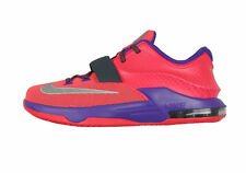 NIKE KD 7 GS Basketball Shoes sz 6.5Y Hyper Punch Grape Gray Silver Kevin Durant