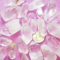 1/4 lb Pound Natural Clear Quartz Point Crystal Raw Reiki Grid Jewelry Wire Bulk