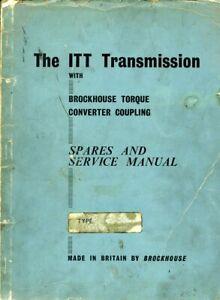 Brockhouse ITT torque converter spare parts & service manual