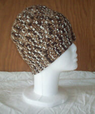 Soft Handmade Crocheted Beanie Hat XL -  Chocolate