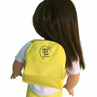 Yellow Doll Backpack For 18 inch Doll - Yellow Doll Backpack Fits 18 Inch Dolls