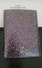 Coach GLITTER COLLECTION Leather Passport Travel Case NEW