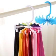 Plastic 360° Rotating Tie Rack Hanger Hook Twirling Scarf Belt Organizer Holder
