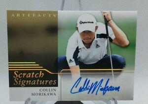 2021 Upper Deck Artifacts Golf Collin Morikawa Scratch Signatures Rookie Auto