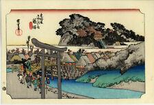 UW»Estampe japonaise réédition Utagawa Hiroshige 1833 - Fujisawa - 12 B54