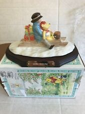 """More details for royal doulton """"going sledging"""" winnie the pooh figure wp34 boxed"""