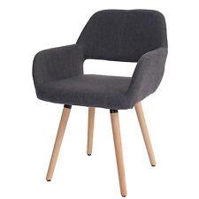 Chaise de salle à manger Altena II, fauteuil, design rétro ~ tissu, gris