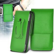 Vertical Belt Clip Quality Pouch Holster Top Flip Phone Case Holder✔Green