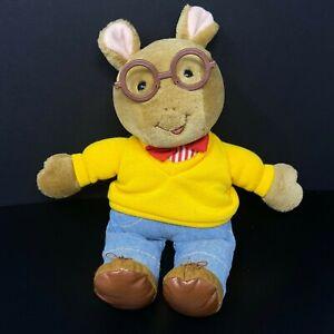 Eden Toys Arthur PBS Plush Doll Aardvark Yellow Sweatshirt Jeans Stuffed Animal