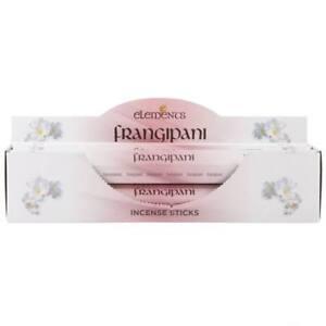Elements Frangipani Incense Joss sticks. 20 sticks, 1 pack.