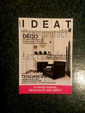 IDEAT MAGAZINE DECO DESIGN TENDANCES pub advert  carte postale postcard
