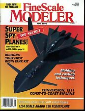 Fine Scale Modeler Magazine May 1994 Testor's new XR-7 and SR-75 kits