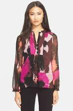 DVF Diane von Furstenberg Annalise Silk Top Blouse Pink 2 XS S Long sleeve Lined