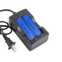 2x ICR 18650 2200mAh 3.7V Rechargeable Lithium Li-ion Battery & Charger PKCELL