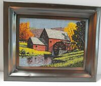 Watermill /Country Barn/ Fall Scenery Hanging Wall Art Coppercraft Guild Frame