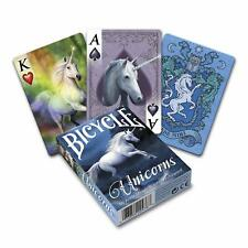 1 Deck Bicycle Anne Stokes Unicorns Standard Poker Playing Cards Brand New Deck